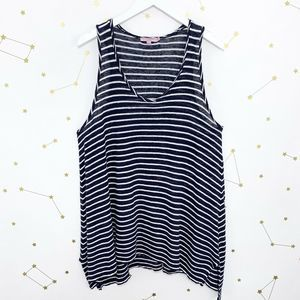 Calypso St Barth • Navy Blue Striped Linen Tank